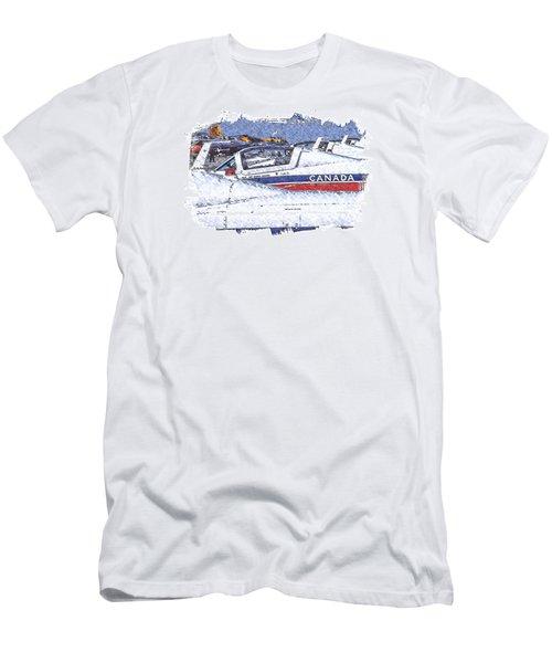 Snowbirds Men's T-Shirt (Slim Fit) by Richard Farrington