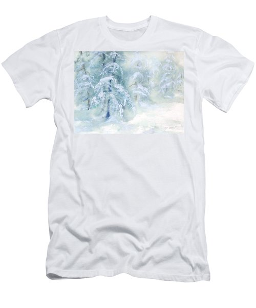 Men's T-Shirt (Slim Fit) featuring the painting Snowstorm by Joy Nichols