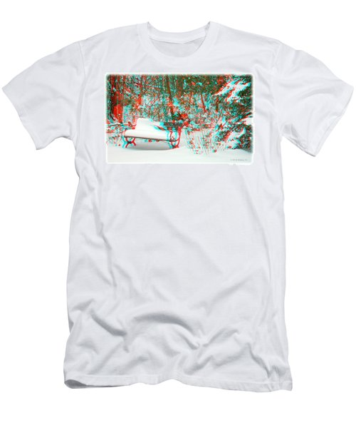 Snowy Bench - Use Red-cyan Filtered 3d Glasses Men's T-Shirt (Athletic Fit)