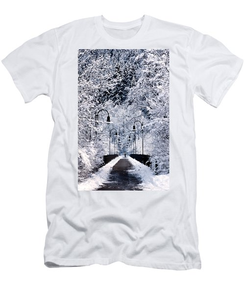 Snowy Bridge Men's T-Shirt (Athletic Fit)
