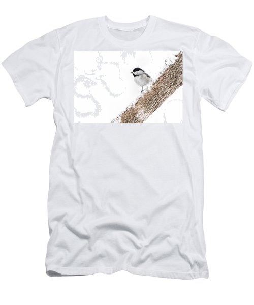 Snowy Chickadee Men's T-Shirt (Athletic Fit)