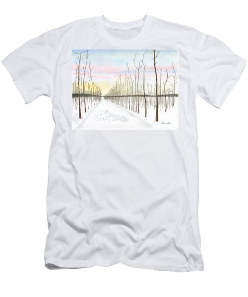 Snowy Lane Men's T-Shirt (Athletic Fit)