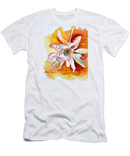 Men's T-Shirt (Slim Fit) featuring the painting So The Wind Won't Blow It All Away by Beverley Harper Tinsley