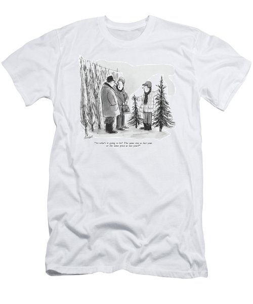 So What's It Going To Be?  The Same Size As Last Men's T-Shirt (Athletic Fit)
