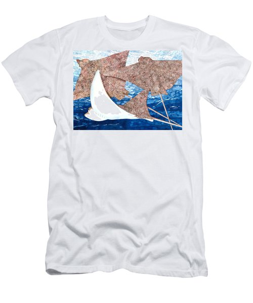 Soaring Eagle Rays Men's T-Shirt (Athletic Fit)