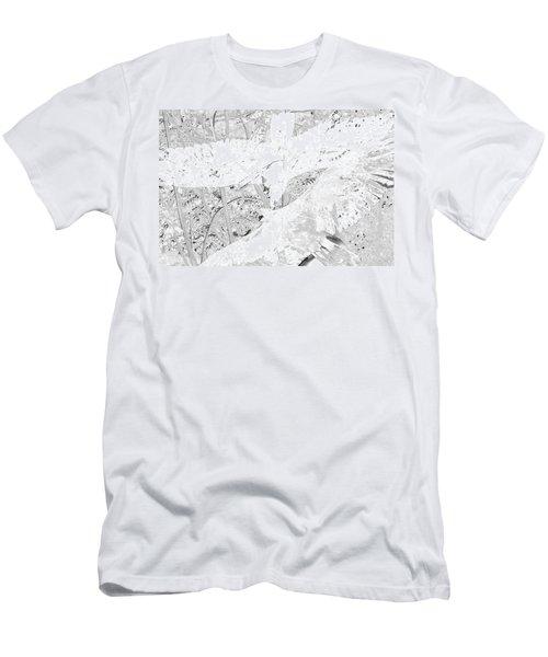 Soaring Hawks Indian Spirit White Gold Men's T-Shirt (Slim Fit) by Deprise Brescia
