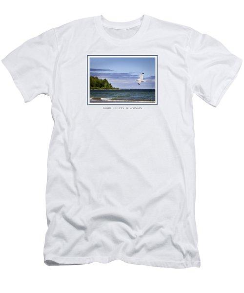 Soaring Over Door County Men's T-Shirt (Slim Fit) by Barbara Smith