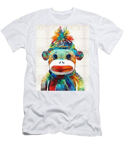 Sock Monkey Art - Your New Best Friend - By Sharon Cummings Men's T-Shirt (Athletic Fit)