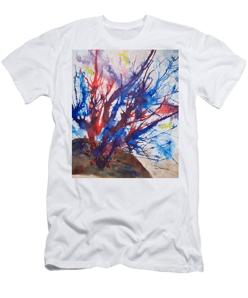 Soft Coral Splatter Men's T-Shirt (Athletic Fit)