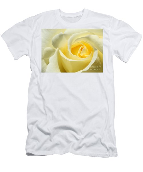 Soft Yellow Rose Men's T-Shirt (Athletic Fit)