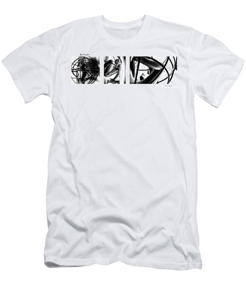 Men's T-Shirt (Athletic Fit) featuring the photograph Solar Jail Triptych by Stwayne Keubrick