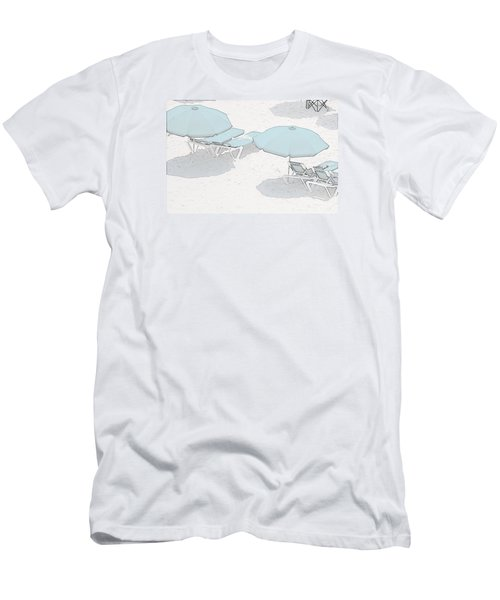 Men's T-Shirt (Slim Fit) featuring the photograph Some Beach        Somewhere by Susan  McMenamin