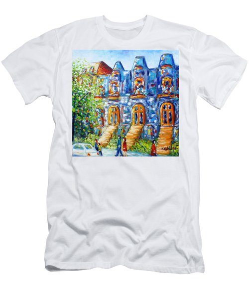 Somewhere In Montreal - Cityscape Men's T-Shirt (Athletic Fit)