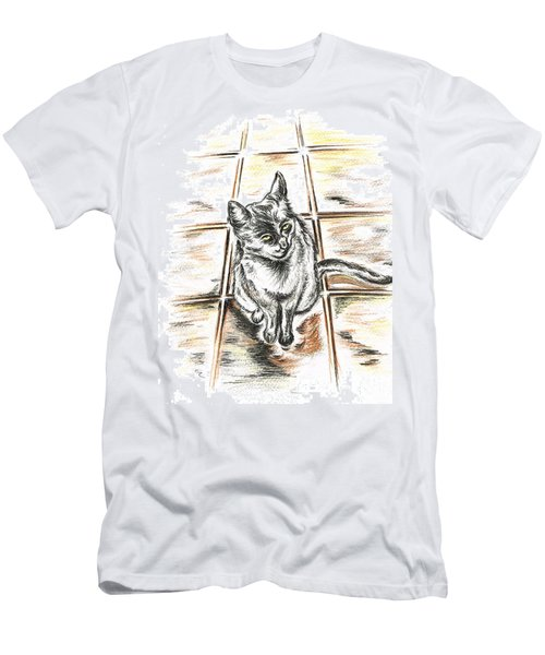 Spanish Cat Waiting Men's T-Shirt (Athletic Fit)