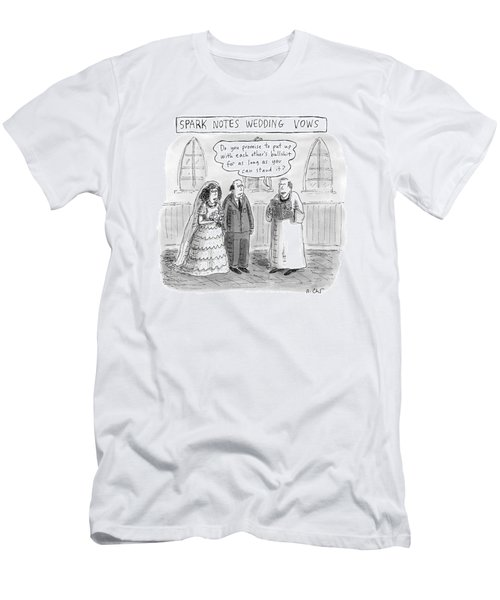 Spark Notes Marriage Vows -- A Minister Says Men's T-Shirt (Athletic Fit)