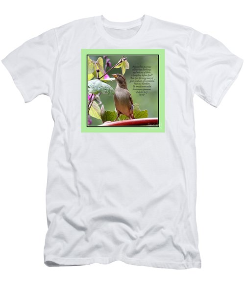 Sparrow Inspiration From The Book Of Luke Men's T-Shirt (Slim Fit) by Catherine Sherman