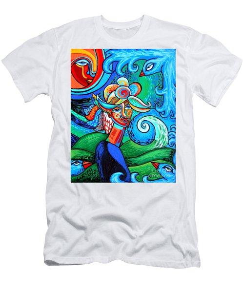 Spiral Bird Lady Men's T-Shirt (Athletic Fit)