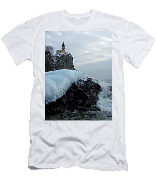 Split Rock Lighthouse Winter Men's T-Shirt (Athletic Fit)