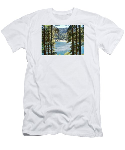Spotted Lake - Scenic Photography - Lake Gregory California - Ai P. Nilson Men's T-Shirt (Athletic Fit)