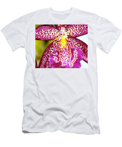 Men's T-Shirt (Slim Fit) featuring the photograph Spotted Orchid by Lehua Pekelo-Stearns