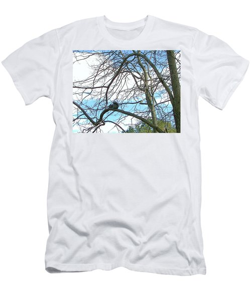 Men's T-Shirt (Slim Fit) featuring the photograph Squirrel Maze by Pamela Hyde Wilson