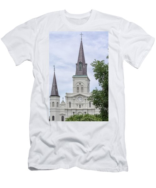 St. Louis Cathedral Through Trees Men's T-Shirt (Athletic Fit)