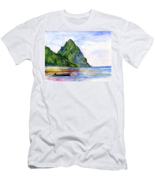 St. Lucia Men's T-Shirt (Athletic Fit)