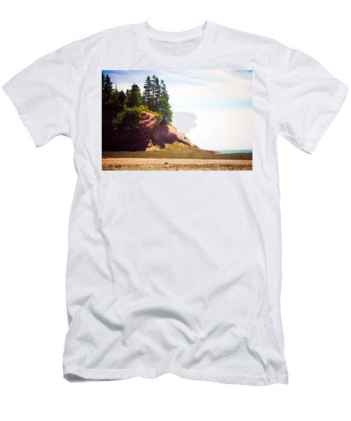 St. Martin's Sea Caves Men's T-Shirt (Slim Fit) by Sara Frank