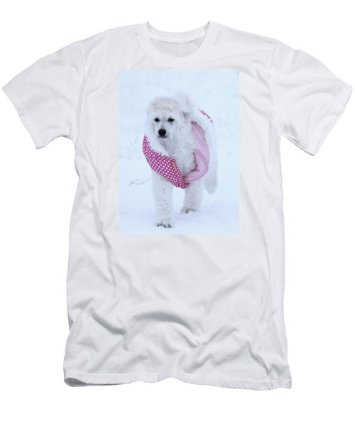 Standard Poodle In Winter Men's T-Shirt (Athletic Fit)