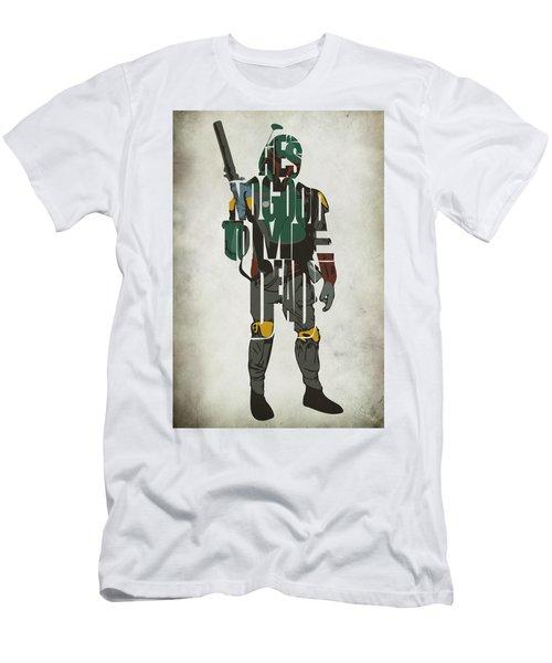 Star Wars Inspired Boba Fett Typography Artwork Men's T-Shirt (Athletic Fit)