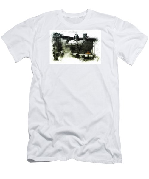 Men's T-Shirt (Slim Fit) featuring the photograph Steam 01 by Kevin Chippindall