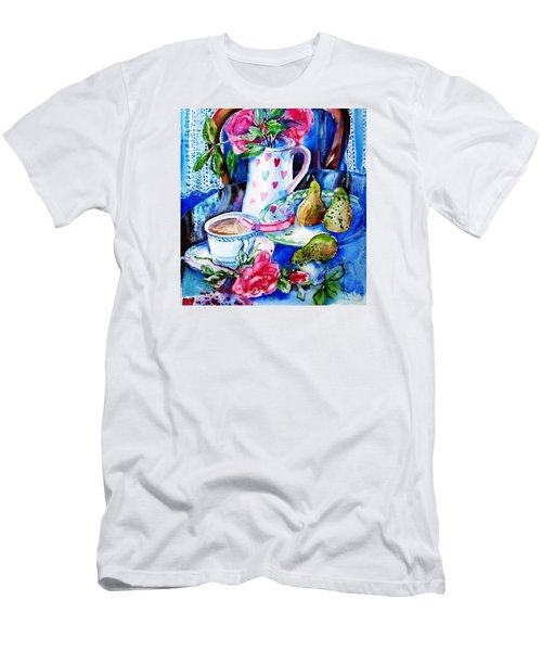 Still Life With Roses  Men's T-Shirt (Slim Fit) by Trudi Doyle