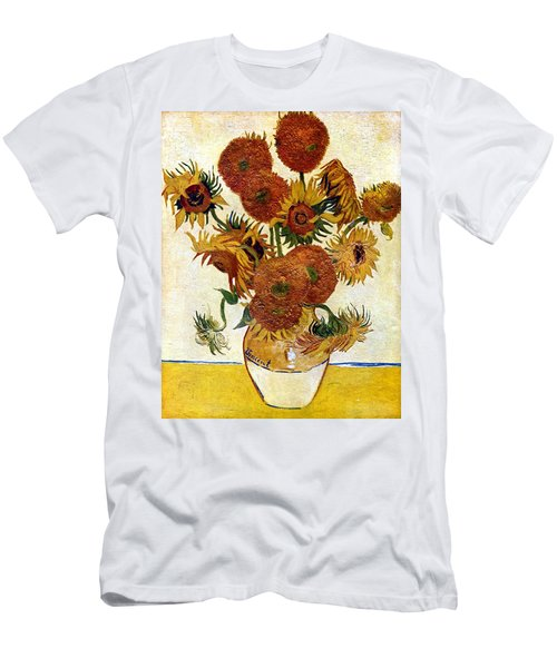 Still Life With Sunflowers Men's T-Shirt (Athletic Fit)