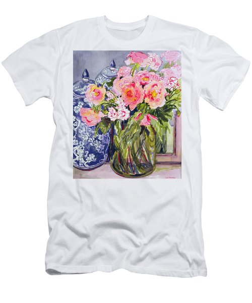 Still Life With Two Blue Ginger Jars Men's T-Shirt (Athletic Fit)