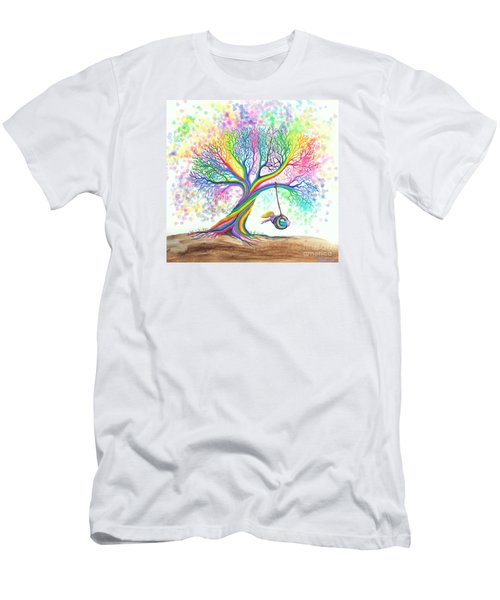Still More Rainbow Tree Dreams Men's T-Shirt (Slim Fit) by Nick Gustafson
