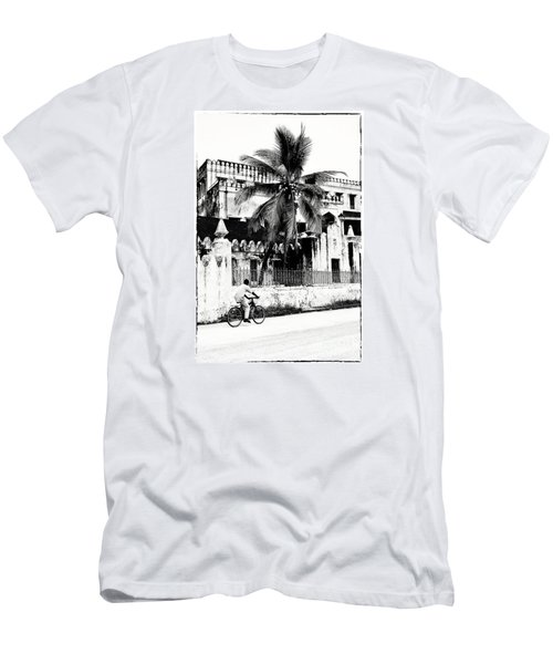 Men's T-Shirt (Slim Fit) featuring the photograph Tanzania Stone Town Unguja Historic Architecture - Africa Snap Shots Photo Art by Amyn Nasser