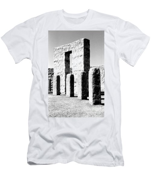 Men's T-Shirt (Slim Fit) featuring the photograph Stonehenge Replica by Chalet Roome-Rigdon