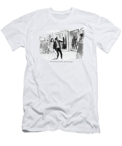 Stop Knocking The Paintings Men's T-Shirt (Athletic Fit)