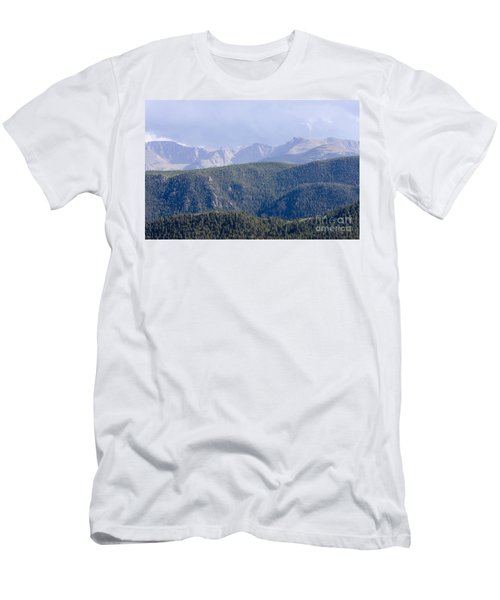 Stormy Pikes Peak Men's T-Shirt (Athletic Fit)