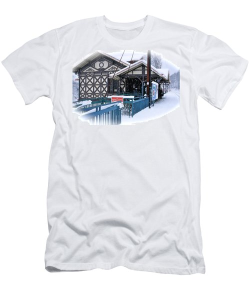 Strafford Station Men's T-Shirt (Slim Fit) by Ira Shander
