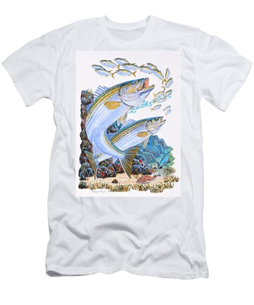 Striped Bass Rocks Men's T-Shirt (Athletic Fit)