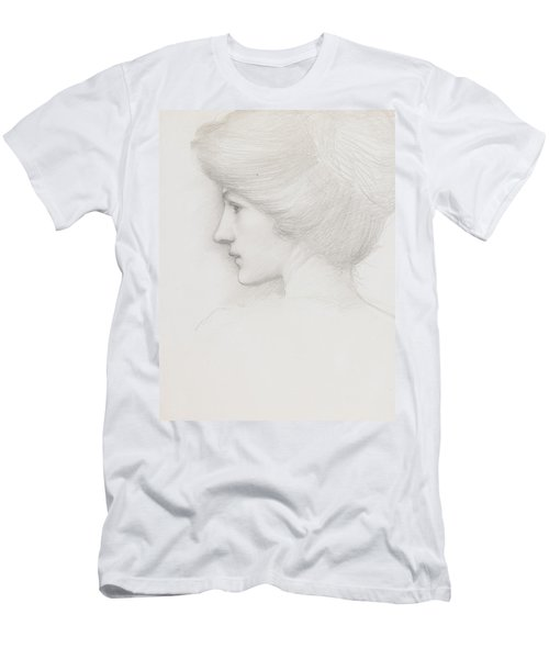Study Of A Woman's Head Profile To Left Men's T-Shirt (Athletic Fit)