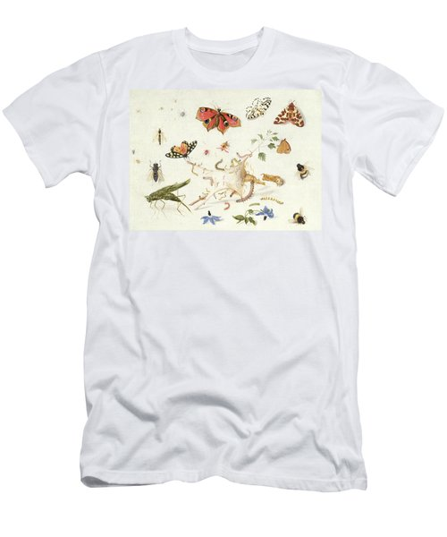 Study Of Insects And Flowers Men's T-Shirt (Athletic Fit)