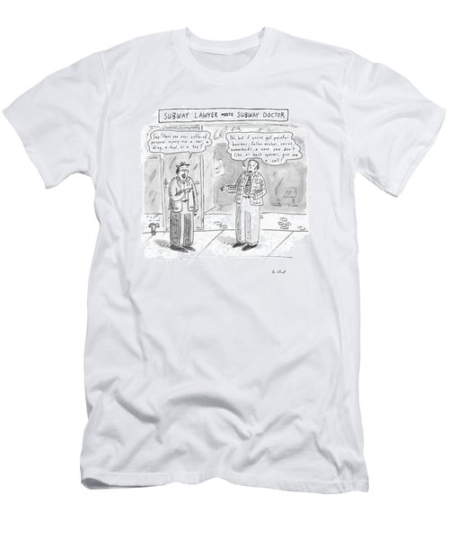 Subway Lawyer Meets Subway Doctor Men's T-Shirt (Athletic Fit)