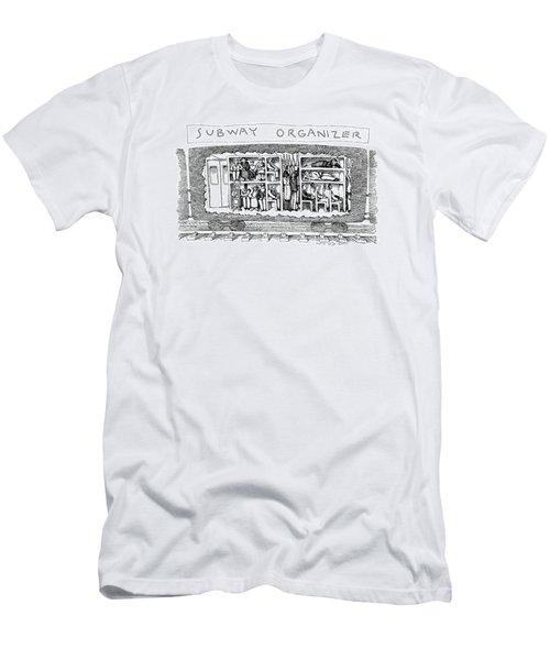 Subway Organizer Men's T-Shirt (Athletic Fit)