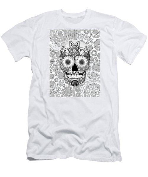 Sugar Skull Bleached Bones - Copyrighted Men's T-Shirt (Athletic Fit)
