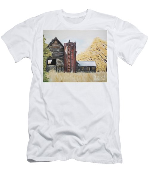 Golden Aged Barn -washington - Red Silo  Men's T-Shirt (Athletic Fit)