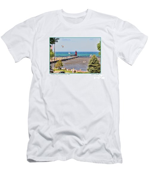 Summer Day At South Haven Mi Men's T-Shirt (Athletic Fit)