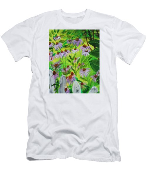Summer Flowers In Peculiar Mo. Men's T-Shirt (Slim Fit) by Patricia Olson