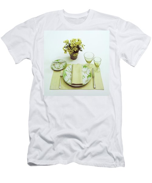 Summer Table Setting Men's T-Shirt (Athletic Fit)